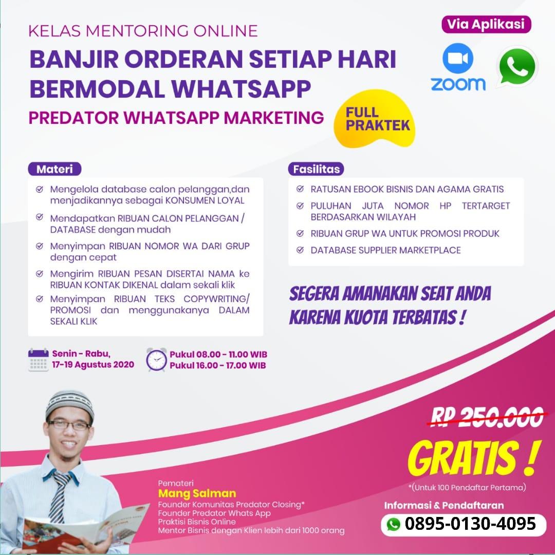 Bazar AB - Kelas WhatsApp MARKETING | Jual Beli Komunitas AB