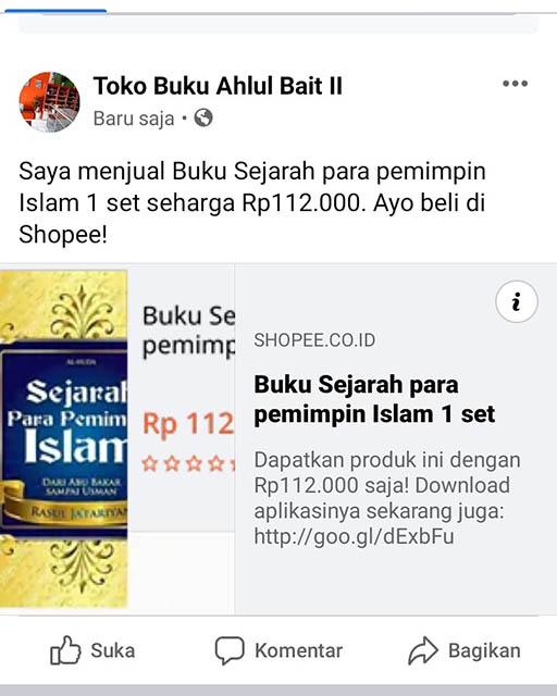 Bazar AB - Sejarah para pemimpin Islam dari Abu bakar, Umar, Usman, imam Ali dst, hingga karbala dan runtuhnya  | Jual Beli Komunitas AB