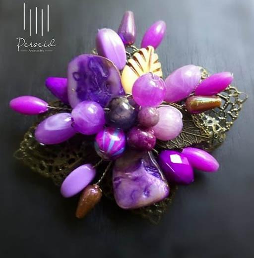 Bazar AB - Purple Romantic Brooch | Jual Beli Komunitas AB